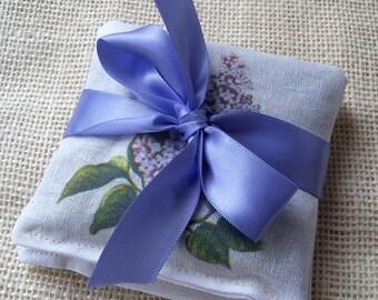 Lavender sachet, vintage gift, flowering lilacs, coworker gift, gardening gift, stocking stuffer, hostess gift, green thumb, botanical, {2}