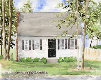 Custom House Painting - House Portrait - Custom House Watercolor