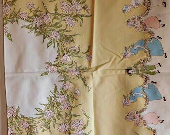 Vintage Kate Greenaway Tablecloth