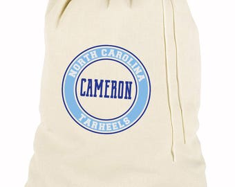 Monogrammed Laundry Bag - University/School Design - Large OR Travel Size