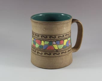 Unique Ceramic Handmade Mug, Big Coffee Mug, Ceramic Tea Mug, Ceramic Beer Mug, Mug – Pottery, Gift for him, 13,5 oz mug