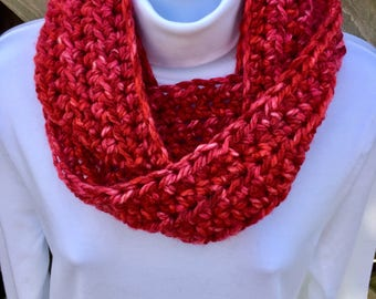 Red and Pink Infinity Scarf