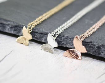 Butterfly Necklace, Bridesmaid Gift, Butterfly Jewellery, Summer Jewellery, Rose Gold Butterfly, Silver Butterfly, Cute Necklace, Gift Idea