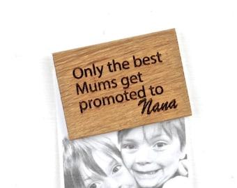 Personalised Best Mums Magnet - Gifts For Mum - Pregnancy Announcement - Nanny Gift - Nanny Magnet - Magnet for Nana - Fridge Magnet - Oak