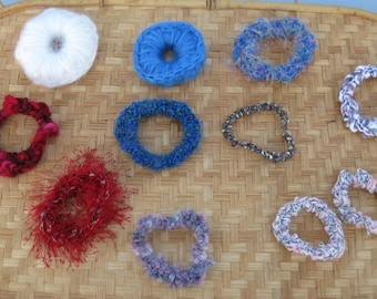 SALE! 25% off!HAIR Ties All OOAK Selection of 5 Diff. Poss. Groupings (See details in listing)Buy 1 selection or all - same shipping cost!
