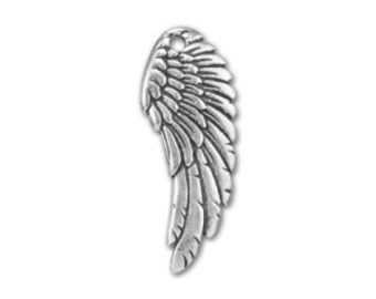 Angel Wing Pewter Charm ~ HarperLeeJewelry Add On Charms ~ Angel in Heaven Charm ~ Cluster Necklace Charm ~ Add On ~ HarperLeeJewelry