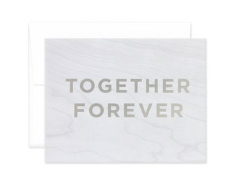 "Faux Bois ""Together Forever"" Greeting Card"