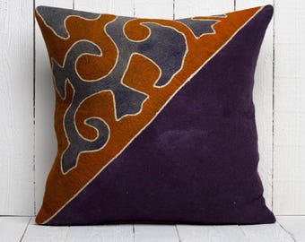 "21"" x 21"" Pillow Cover Felt Pillow Cover Handmade Felt Pillow Cover FAST SHIPMENT with ups or fedex - 03310-01"