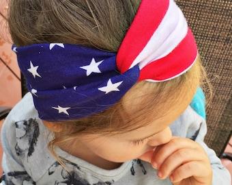 """ADULT Flag """"turban"""" headband"""