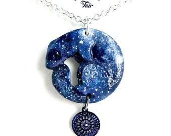 Dark Ferret Necklace - Galaxy