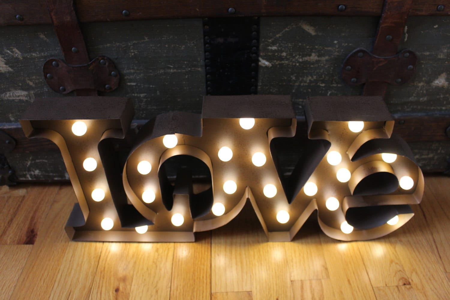Tin Letters With Lights Beauteous Lighted Love Marquee Signmetal Letterrustic Weddingvintage Design Ideas
