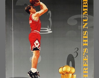 1980s Chicago Bulls Poster NBA Poster 22 x 28