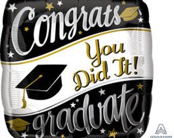 Graduation You Did It Balloon/ Graduation Balloon/ Graduation Party Balloon/ Graduation Decor