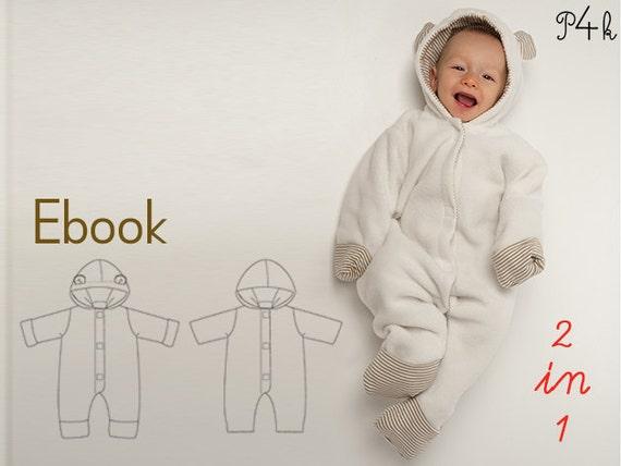 Schnittmuster Baby Overall Babyanzug Kuschelanzug