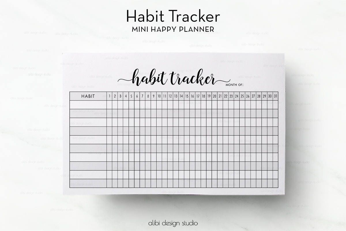 It is a photo of Wild Mini Happy Planner Template