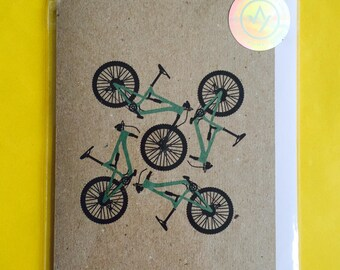 Mountain Bike A6 Card with Envelope