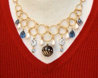 Vintage Components Assemblage Necklace