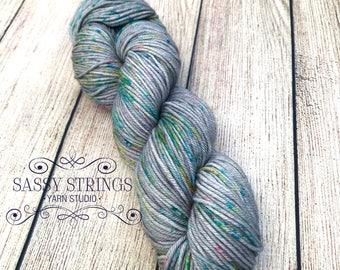 HAND DYED YARN  / dK Yarn / dK Weight Yarn / Indie Dyed Yarn / Superwash Merino / Underground