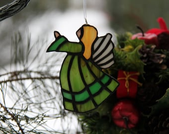 Angel suncutcher, stained glass angel, stained glass Christmas angel, gift for Christmas. Christmas home decor, Christmas tree toy