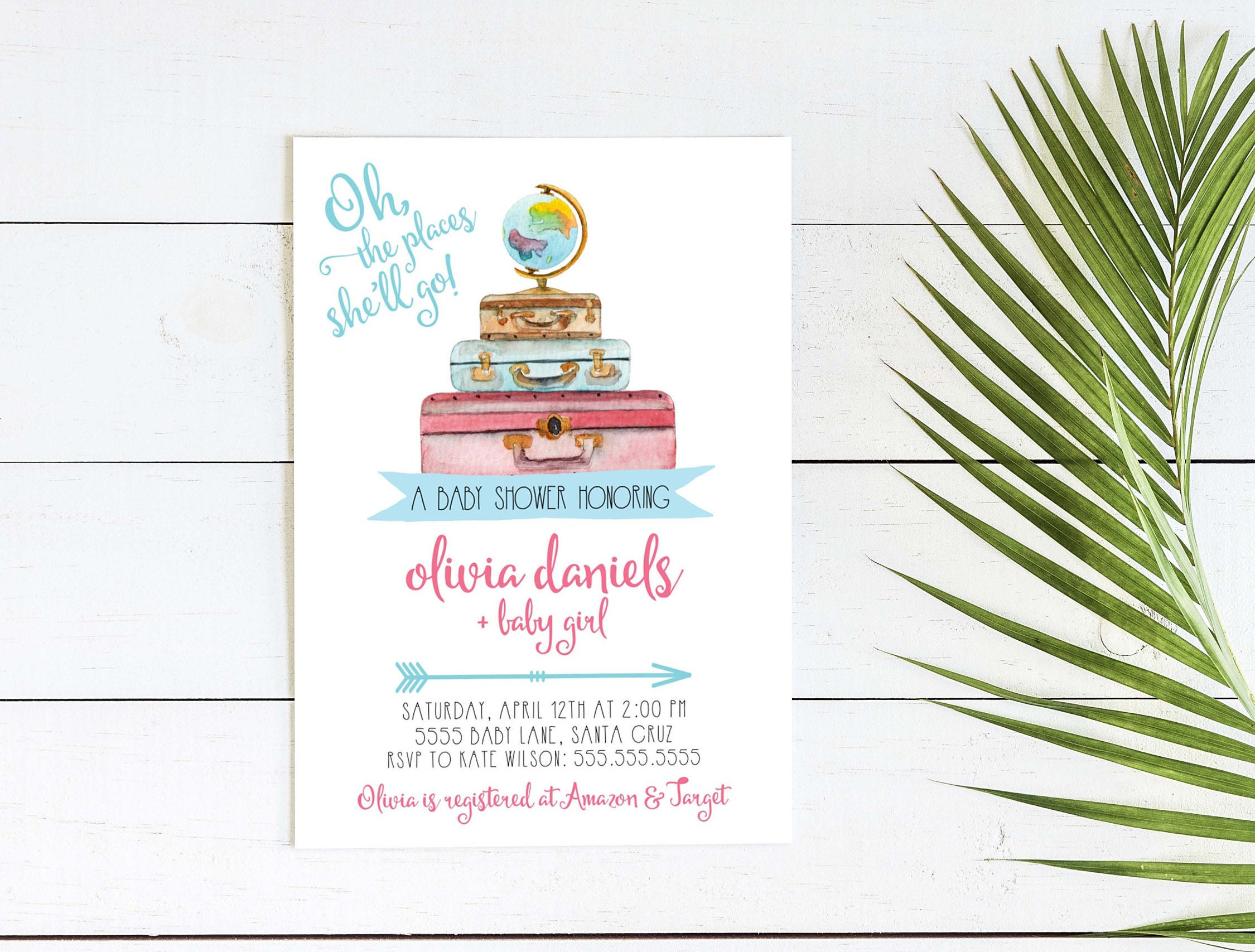 Whimsical Floral Adoption Baby Shower holiday cards create your own ...