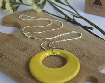Handmade ceramic necklace