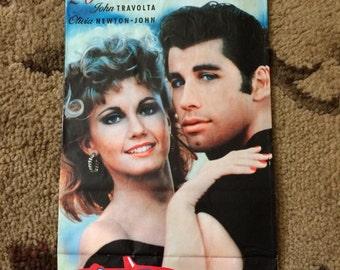 Vintage Grease 20th Anniversary paper popcorn bag John Travolta Olivia Newton-John