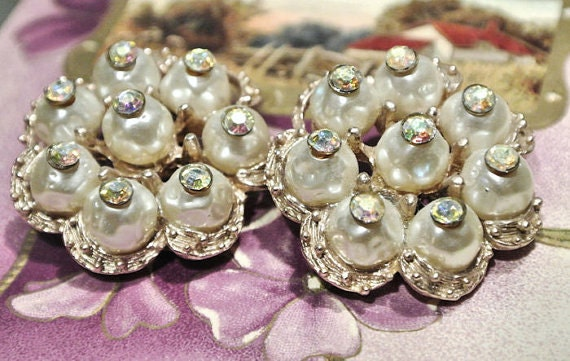 Vintage Haskell Style Clip on Earrings