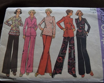 Vintage Simplicity 6029 Misses, and Women's Top, Blouse and Pants in size 16, Bust 38 (uncut)