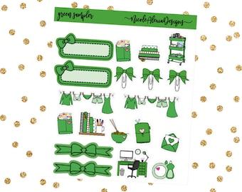 Green Sampler, Bow Planner Stickers