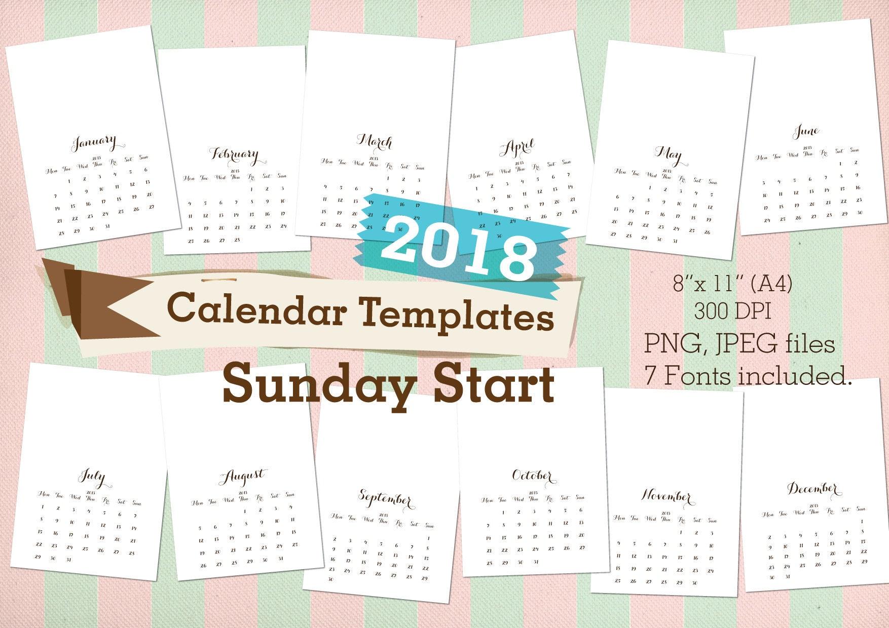 cool calendars 2018