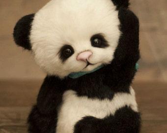 Panda Luigi, (made to order)Teddy Bear Stuffed Animal Bear Soft Toys Artist Teddy Bears