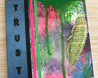 Mixed media original - TRUST
