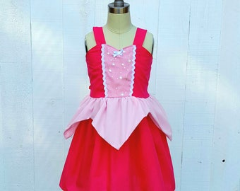 Sleeping Beauty dress, Aurora dress, vacation princess dress, summer princess dress, comfortable princess dress for Disney parks, Princess