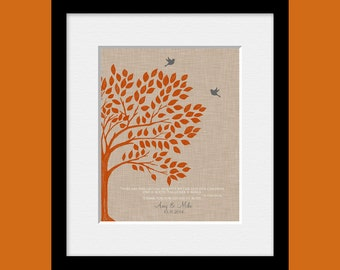 Wedding Tree Wall Art, Fall Wedding Decor, Roots and Wings Quote, Parent's Thank You Gift Print, Groom's Parent Gift, Bride's Parent Gift