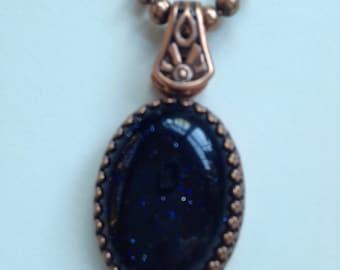 Goldstone Pendant Necklace
