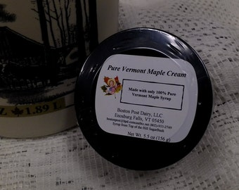 100 percent Pure Vermont Maple Cream/ Made with Vermont Maple Syrup 5.5 oz