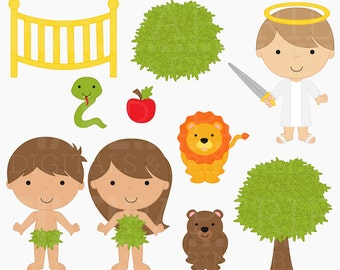 bible characters clipart clip art christian religious - Adam and Eve Digital Clipart - BUY 2 GET 2 FREE