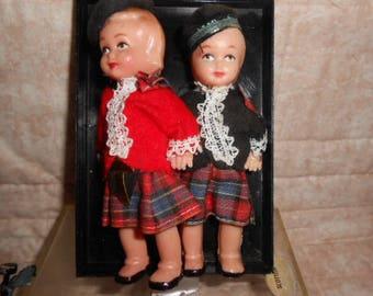 "Vintage Celluloid Dolls Of The World-4.25"" Tall - Scottish"