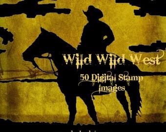 Wild Wild West Digital Stamp Set