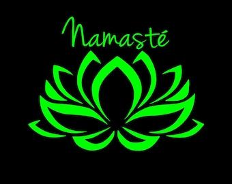 Lotus Flower decal Namaste decal Lotus flower car decal car decal boho decal window decal laptop decal custom decal Namaste decal