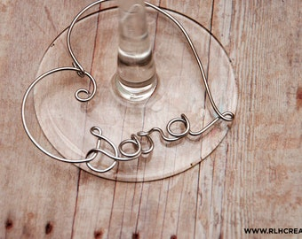 Personalized Wine Charms / Wine Charms / Bridal Shower Party Gift / Wine Name Charm / Bridesmaid Gift / Personalized Glass Charm / Wine Gift