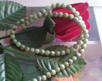 strand of 63 beads natural genuine 6 mm diameter peridot stone, hole 1 mm
