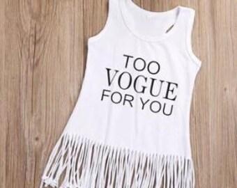 Too Vogue for you fringe dress
