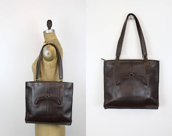 Bonnie Cashin Era Coach Shoulderbag  / 70s Leather Coach Shopper Bag / Coffee Bean Tote