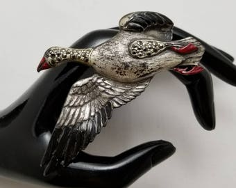 Vintage Enamel Duck Pin