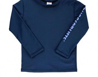 Navy Logo Long Sleeve Rash Guard