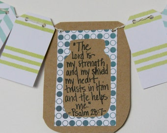 Psalm 28:7 Mini Scripture Bunting