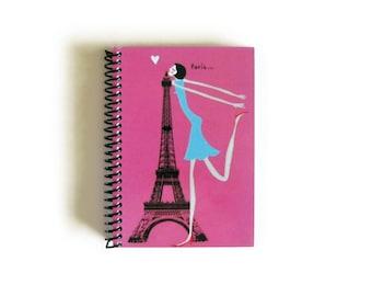 Kiss Paris Notebook A6 Spiral Bound