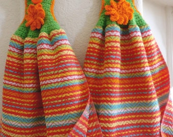 Set of 2 Double Crochet Kitchen Towels - New