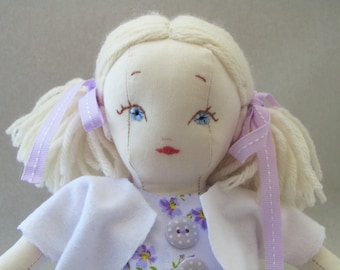 Olive - 11 in. Handmade Rag Doll